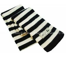 Gothic style Santoro London Gorjuss Woollen Scarf Black & White Striped 170cm UK