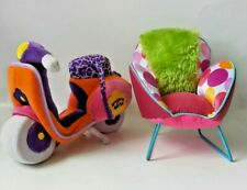 Groovy Girls Motorcycle Scooter and Fancy Chair Stuffed Plush toys