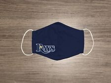 MLB Tampa Bay Rays Face mask Handmade Adult Unisex with Nose Wire & Elastic NAVY