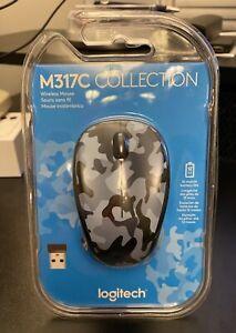Logitech Color Collection Wireless Mouse - Blue Camo 3 buttons 2.4Ghz