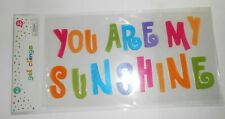 NEW Gel Window Cling Decorations YOU ARE MY SUNSHINE 16 pcs Inspirational CUTE!