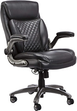 Amazoncommercial Ergonomic High Back Rhombus Stitched Leather Executive Chair W
