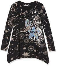 Desigual TS Chivite T-shirt À manches longues fille Noir (negro 2000) 12 ans