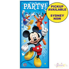 MICKEY MOUSE PARTY SUPPLIES PLASTIC DOOR BANNER POSTER BIRTHDAY DECORATIONS