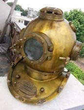 """Antique US Navy Mark V Scuba SCA Divers Diving Helmet Deep Sea Marine 18"""" Diver"""