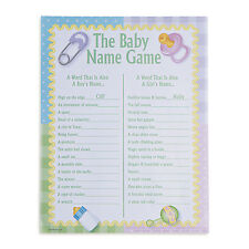 24 sheets Baby Names Baby Shower Activity Game PARTY DECOR BOY GIRL PINK BLUE