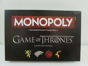 MONOPOLY GAME OF THRONES COLLECTORS' EDITION FROM HASBRO, AGE 18+  -NEW-  #NSDC#