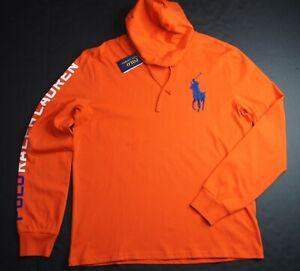 POLO RALPH LAUREN Men's Big Pony Graphic Print Sleeve Hooded T-Shirt NWT