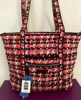 NWT VERA BRADLEY Iconic Small Vera Tote IN HoundStooth Tweed