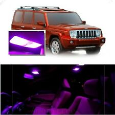 For Jeep Commander 2006-2010 Pink LED Interior Kit + Pink License Light LED