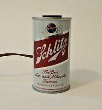 Schlitz Beer Light 12 Oz Can Lamp