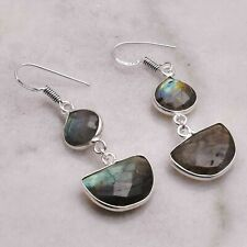 "Labrdorite  Handmade Drop Dangle Earrings Jewelry 1.76"" AE 55018"