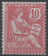 """FRANCE STAMP TIMBRE  N° 124 """" TYPE MOUCHON RETOUCHE 10c ROSE 1902 """" NEUF xx TB!!"""
