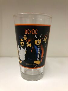 AC/DC Highway to Hell 16oz Collectible Beer Glass Angus Malcom Young Bon Scott