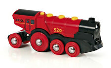 BRIO 33592 Mighty Red Action Locomotive Battery Powered Train