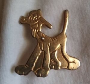 Vintage antique 1940's Disney Pluto pin back brooch