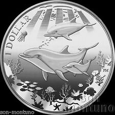 2014 DOLPHIN - CuNi Copper Nickel $1 One Dollar UNC Coin British Virgin Islands