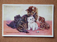 R&L Postcard: M Gear, Mabel Gear Cat Series, Valentine's 1876 Long Haired Tabby