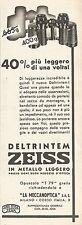 W2523 Binocoli ZEISS Deltrintem - Pubblicità 1938 - Old advertising