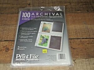 NEW ARCHIVAL 45 4HB pol PRESERVERS 100 Photograph Proofing Clear Plastic Covers