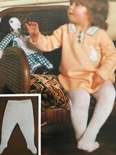 3 Ply Knitting Pattern - Baby/Toddlers Dress & Tights