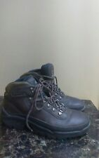 MEN TIMBERLAND OUTDOOR PERFORMANCE SIZE 8M - BROWN LEATHER HIKING ANKLE BOOTS