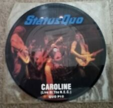 "Status Quo Caroline/Dirty Water 7"" Pic Disc Single"