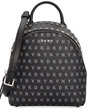 New DKNY Bryant Signature Crossbody baby backpack small logo letters silver bag