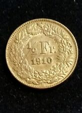 SWITZERLAND  1/2 FRANC 1910 SILVER COIN