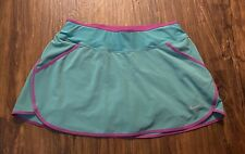 Nike DriFit Womens Teal Purple Orange Drawstring Shorts Tennis Golf Skort Size S
