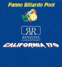 Panno biliardo Pool Renzline California blu cm.260x170 tavolo con buche 7 piedi