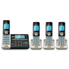 4 Handset Cordless Phone w Answering System, Connect to Cell no land line needed