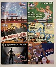 Puerto Rico Basketball Superior League Itinerary Booklets 2012-2016 & 2018