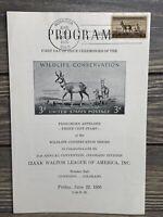 Vintage And Program Wildlife Conservation Stamp Issue Ceremony 1956