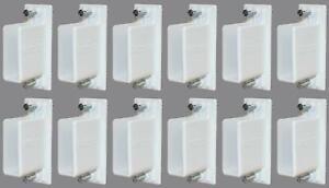 Lot of 12 Rubbermaid White Wire Closet Shelf Wall Bracket Preloaded