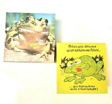 Lot of 2 Mini Springbok Jigsaw Puzzles Froggie Kiss a Toad Vtg 1977 NICE Frog