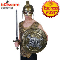 AC621 Shield 44cm Ram Viking Gladiator Roman Spartan Combat Warrior Costume
