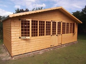 20 x 10 SUPREME SUMMER HOUSE  WOODEN SHED LOG CABIN HIGH QUALITY GRADED TIMBER