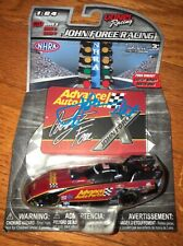 NHRA 2017 SIGNED AUTO JOHN FORCE  DIECAST RED CAR 1:64 LIONEL RACING PHOTO PROOF