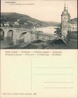 Ansichtskarte Heidelberg BLICK INS NECKARTAL MIT ALTER BRÜCKE 1906