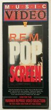 "R.E.M. rem original video store advertising board for ""Pop Screen"" Vhs 1990"