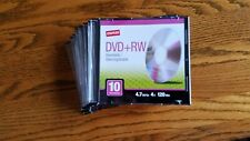 Lot of 9 Staples DVD+RW discs 2 hrs each 4.7gb