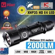 Klarus XT11GT Tactical LED Flashlight 2000Lm XHP35 Torch + 3100mAh 18650 Battery