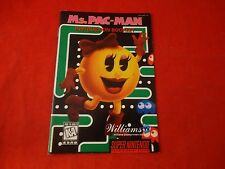 Ms. Pac-Man Super Nintendo SNES Instruction Manual Booklet ONLY Miss Mrs. Pacman