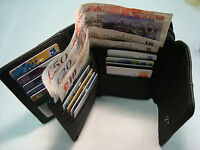 Soft Leather Ladies Purse Wallet with Double Credit Cards Sections RFID Protect