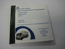 4 x 50 Page Duplicate Vehicle Check & Defect Book