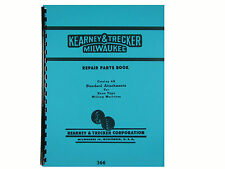 Kearney Trecker Milling Machine Standard Attachments Parts List Manual 366