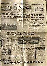 Journal l'Equipe n°2833 - 1955 -  Foot France Angleterre - R.Haillet - Iharos