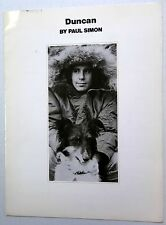 Paul Simon Sheet Music Duncan Big Bells Pub. 70's Pop rock Simon & Garfunkel