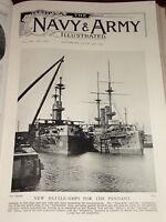 1901 Nuovo Battaglia Navale Per Il Pennant Chatham Venerable